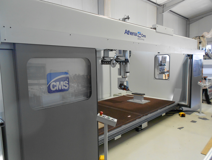 CMS Athena 5 axis routing machine
